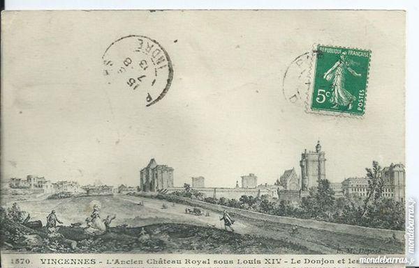 vincennes , l'ancien chateau roya lsous louis XIV 6 Tours (37)
