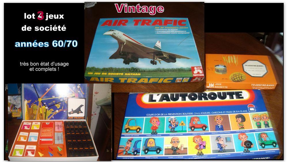 Vintage années 70 * LOT de 3 jeux de société TBE 40 Chalon-sur-Saône (71)