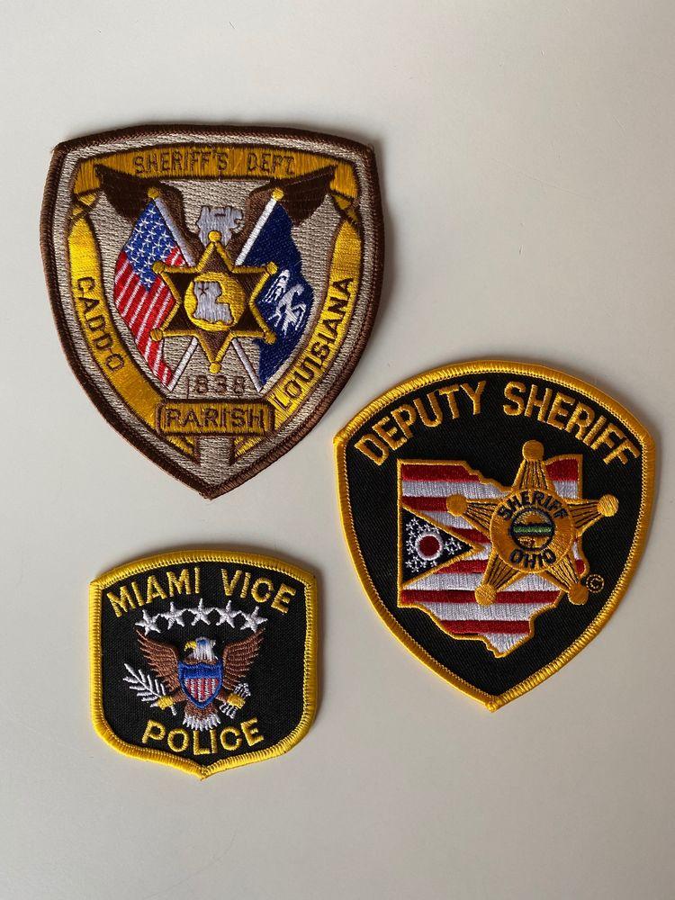 Vintage Lot patches badges Originaux Police US