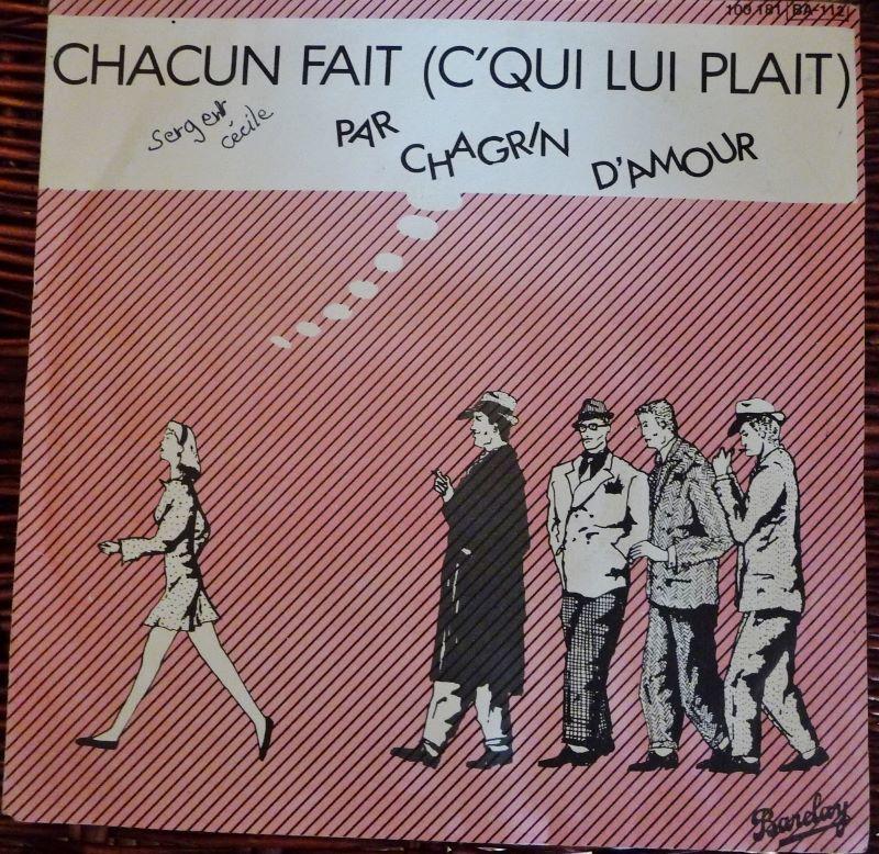 Vinyl CHAGRIN d'AMOUR 3 Lille (59)