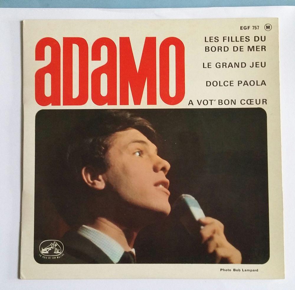 Vinyle : Adamo : 45 tours : 4 titres CD et vinyles