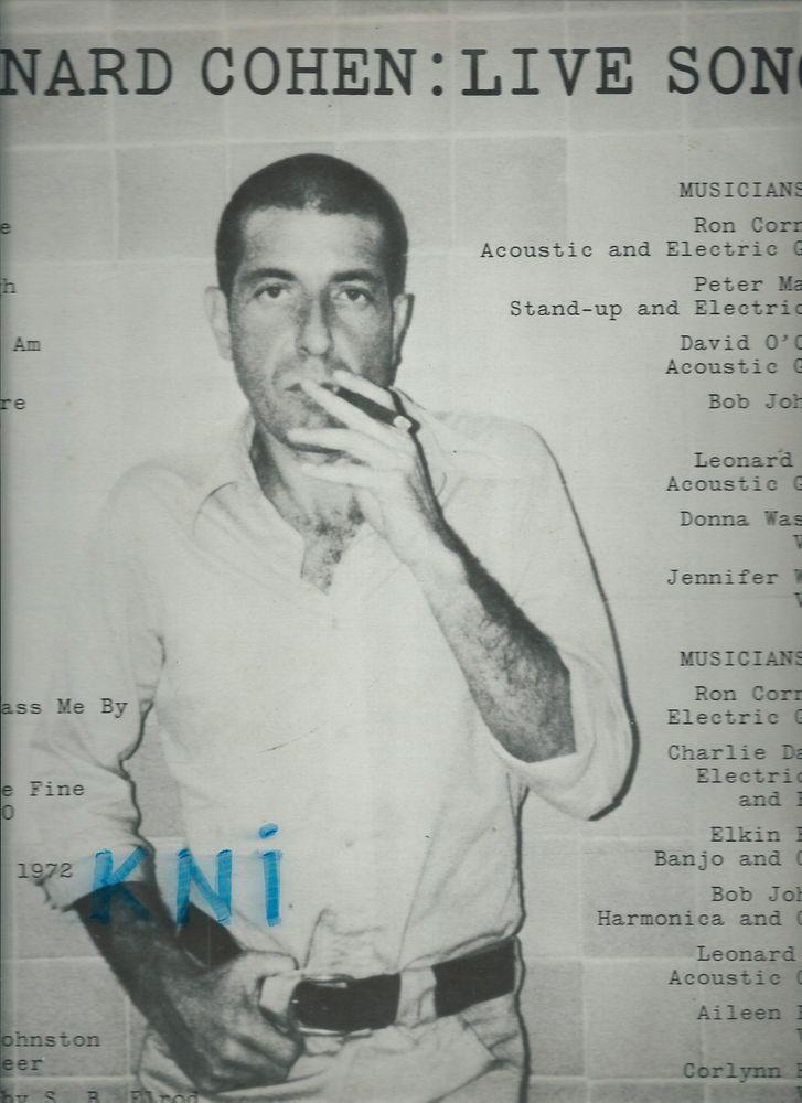 Vinyle 33T , Leonard Cohen ,Live songs 1973 6 Tours (37)
