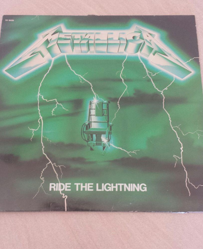 vinyle de Metallica Ride The Lightning pochette verte 0 Miramas (13)