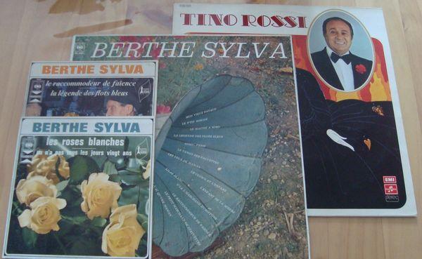 Vinyles Berthe Sylva et Tino Rossi 3 Plélan-le-Grand (35)