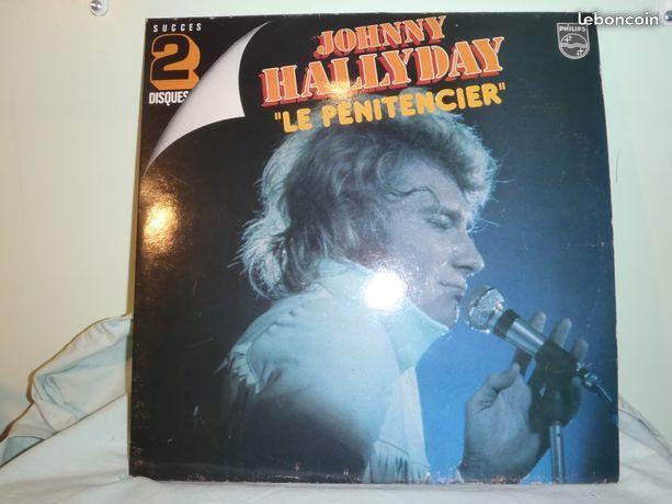 Vinyles : Johnny Hallyday : Le Pénitencier : double album 30 Limoges (87)