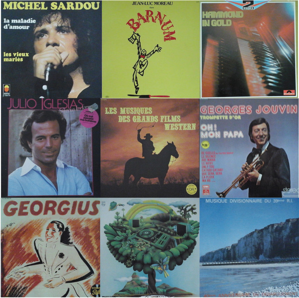 Vinyles 33 tours divers. 8 Courchelettes (59)
