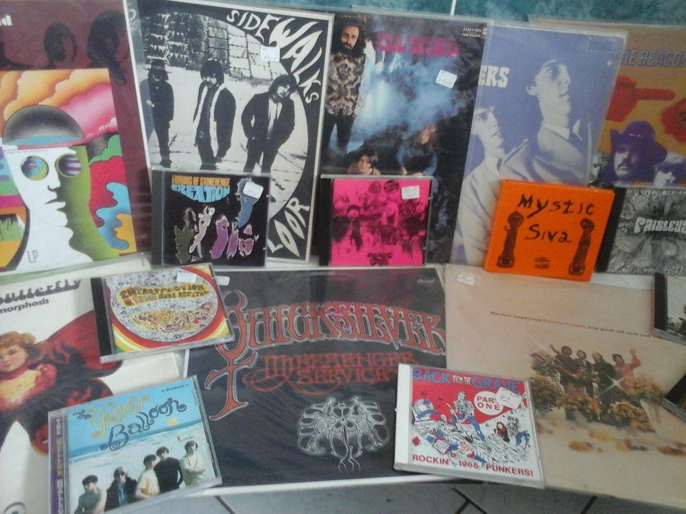 Vinyls et CD psychédélisme années 60 1 Jussey (70)
