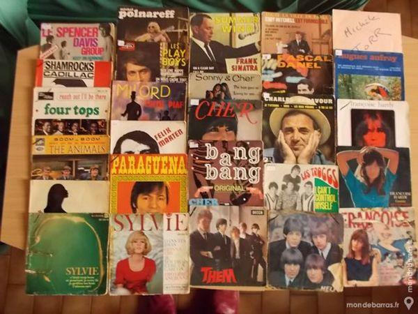 Vinyls 63 x 45 tours 4 titres CD et vinyles