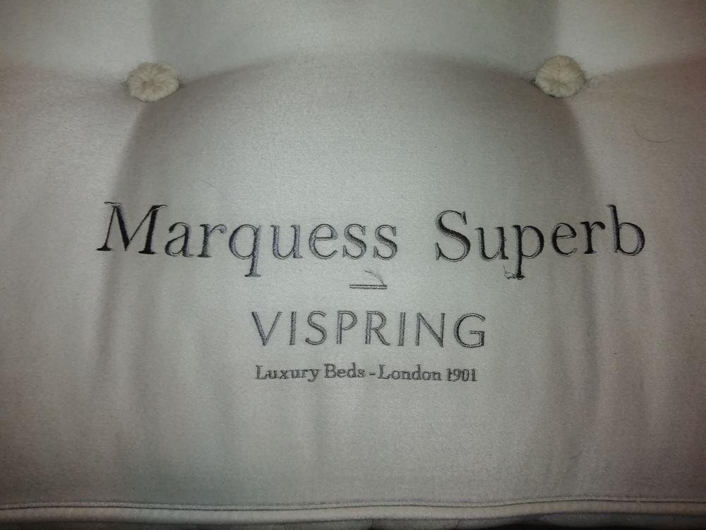 Lit Vispring Marquess Superb bleu nuit satin 180x200 4500 Beausoleil (06)