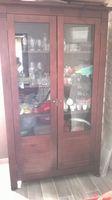vitrine en bois acajou Meubles