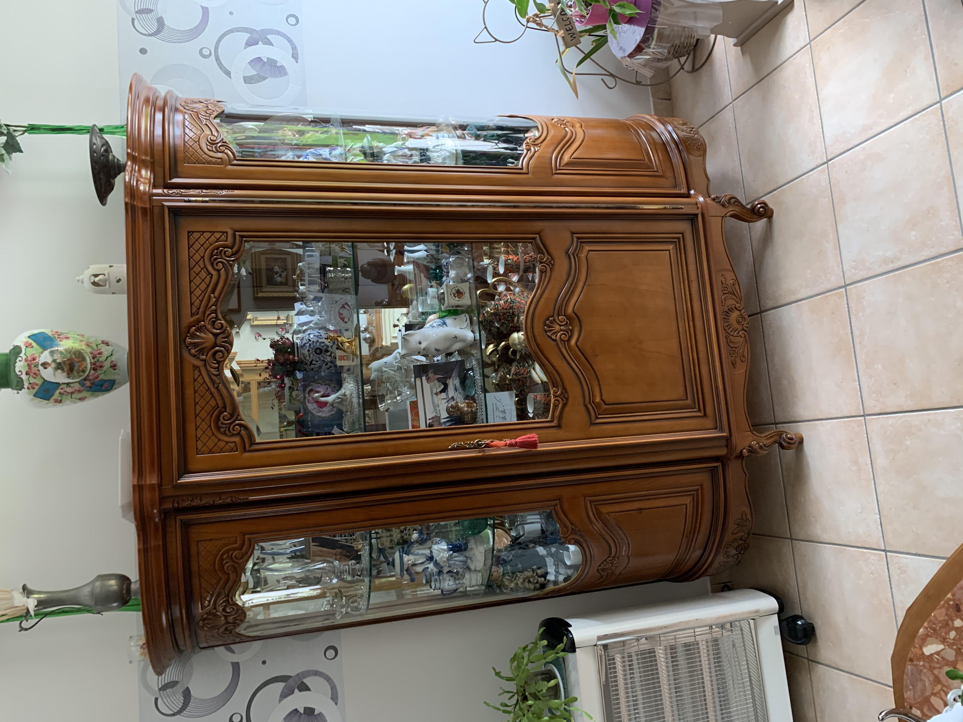 vitrine merisier massif  500 Estaires (59)