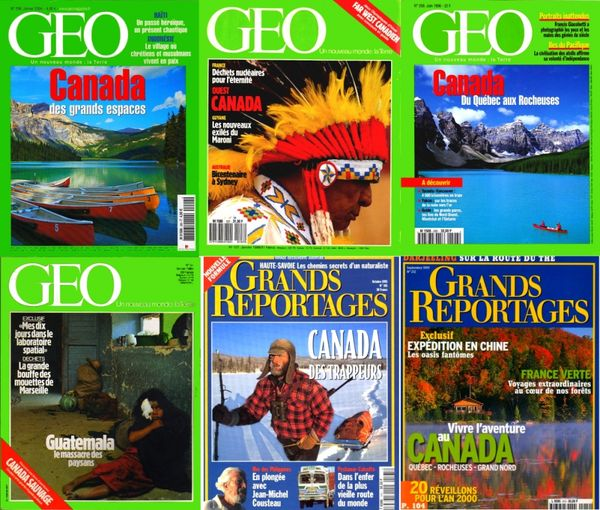 voici 6 revues sur le CANADA / les-livres-de-jac 17 Lille (59)