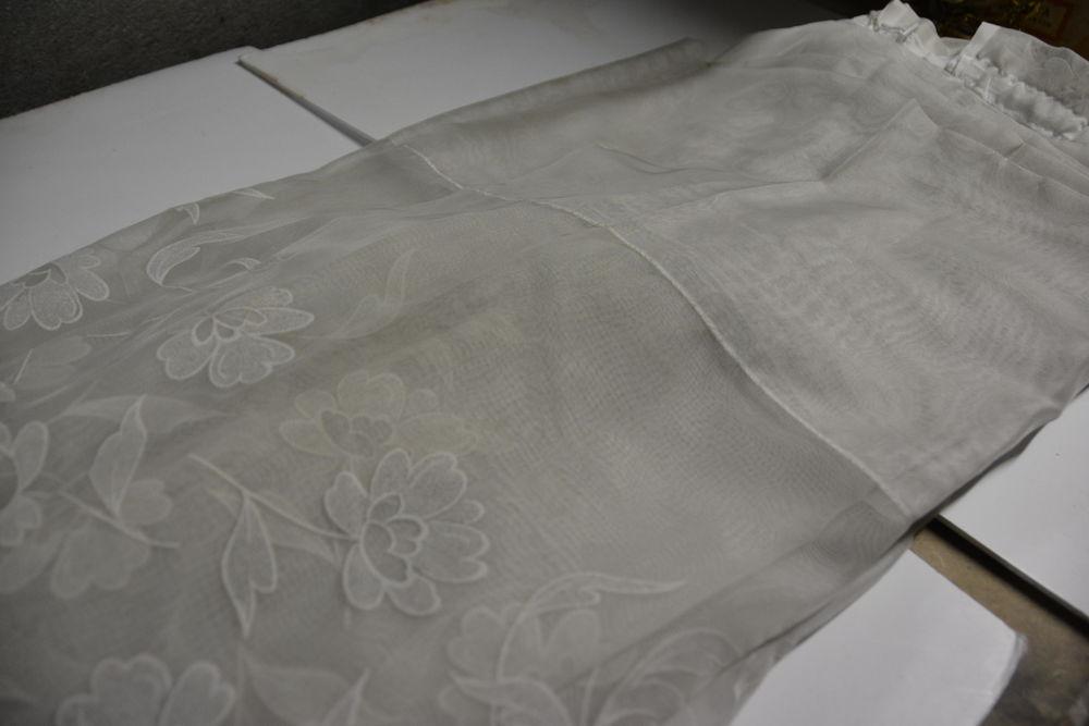 Voilage blanc motifs floral ton sur ton 0 Sainte-Geneviève-des-Bois (91)