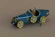 Voiture miniature repro Bugatti à ressort en tole Ballon Cor