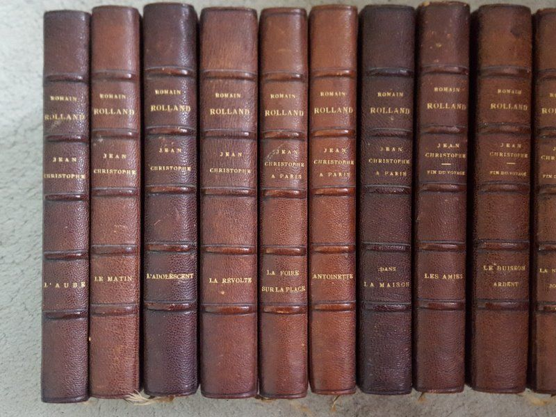 10 volumes Jean-Christophe de Romain Rolland 150 Jaignes (77)