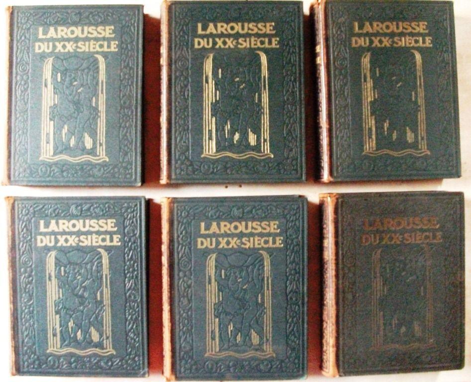 6 Volumes LAROUSSE du XXe SIÈCLE { complet de 1928 à 1933 } 60 Castelnaudary (11)