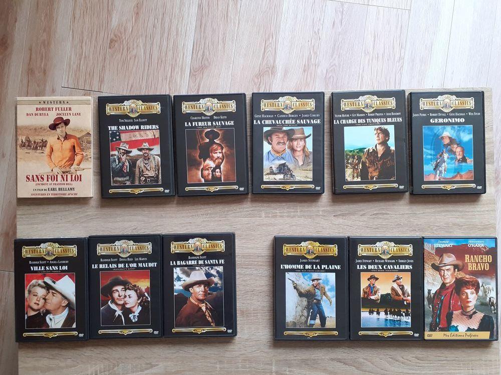 12 DVD WESTERN    Géronimo, etc.....    25 Le Vernois (39)