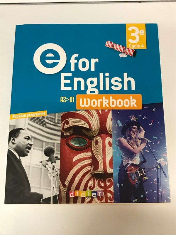 Workbook E For English 3ème 8 Strasbourg (67)