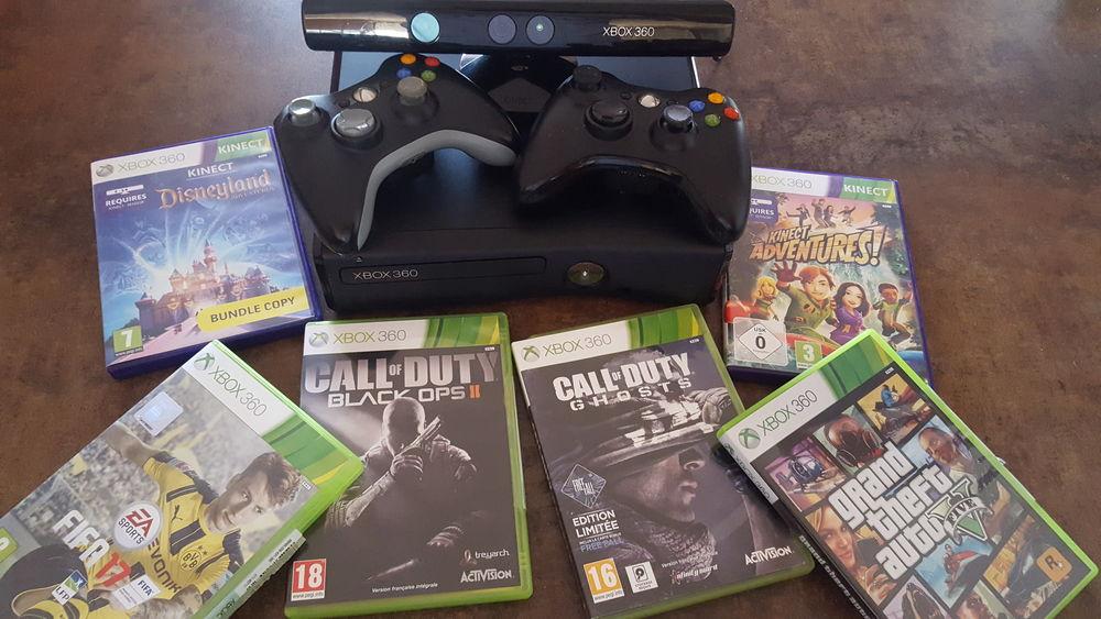 Xbox 360 4GB+2 manettes+Kinect+6 jeux+disque dur 120GB Consoles et jeux vidéos
