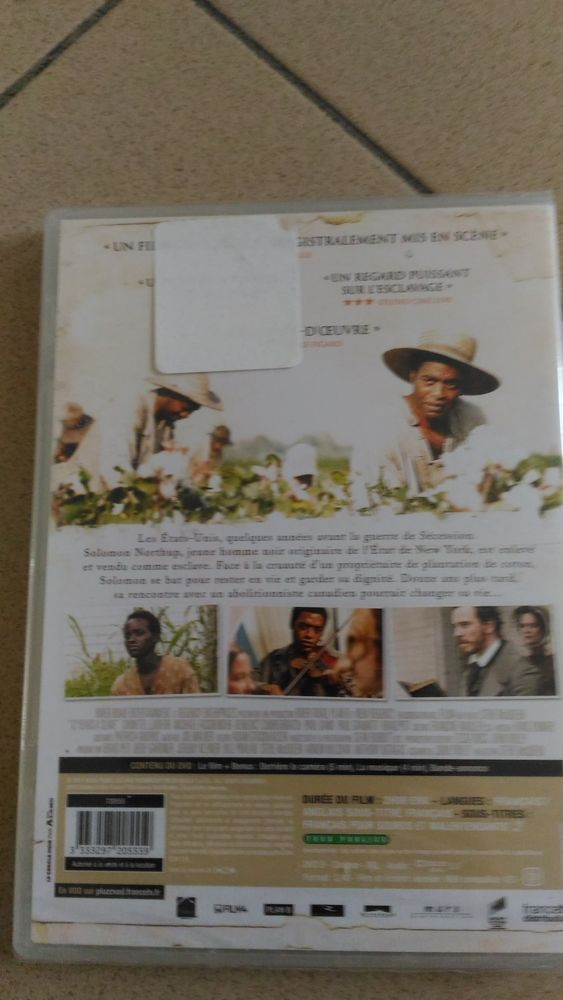 DVD 12 years a slave DVD et blu-ray