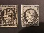Yvert 3° et 3a° 20 Nimes (30)