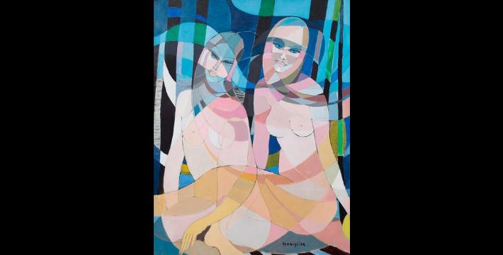 Yvette Maniglier (née en 1929) oeuvre signée Décoration