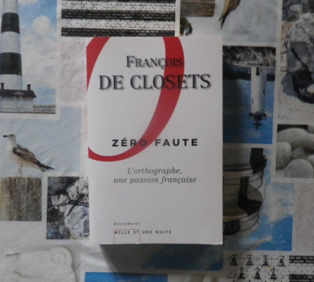 ZERO FAUTE par François de CLOSETS Ed. Mille et une nuits 4 Bubry (56)