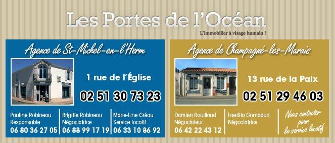 Agence des portes de l 39 oc an agence immobili re saint michel en l 39 herm 85580 immobilier 85 - Agence des portes de l ocean ...