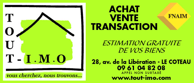 Tout imo agence immobili re le coteau 42120 immobilier 42 for Tout les agence immobiliere