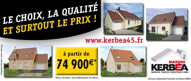 Maisons kerbea constructeur immobilier saint jean de for Code postal 45800