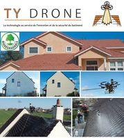 Démoussage toiture et façade par drone 1 77100 Meaux