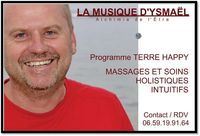 MASSAGE INTUITIF ENERGETIQUE, SONOTHERAPIE ET PROGRAMME TERRE HAPPY 01340 Jayat