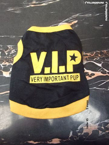 tshirt VIP taille XS