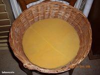 joli panier osier rond pour chat ou petit chien, peu utilisé 25