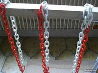 potence avec chaines pour toilettage de chiens en TBE
