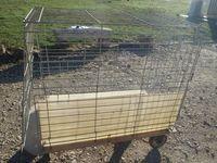 cage pour expo avec chariot 48