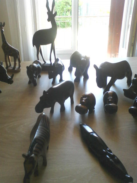 animaux en ébéne