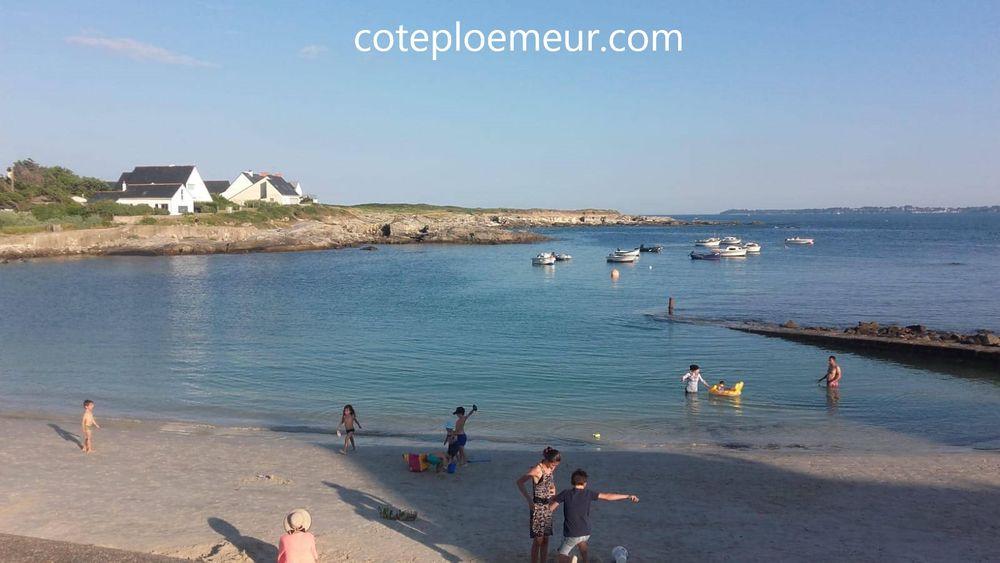 T2  : Très belle vue sur l'Océan à 50 m de la plage Bretagne, Ploemeur (56270)