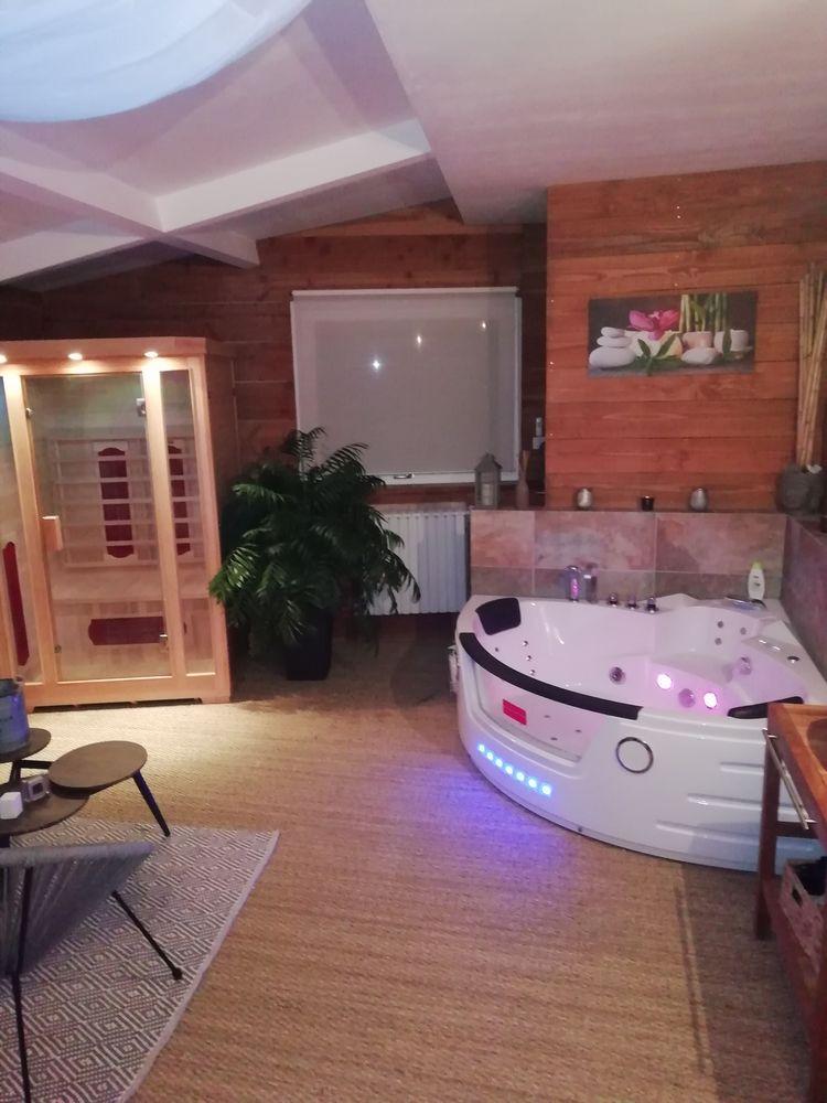 Chambre Indépendante avec sauna et spa dans la chambre  Centre, Vallères (37190)
