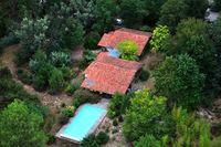 Grande maison bois et grande piscine dans foret  océan 15' Aquitaine, Léon (40550)