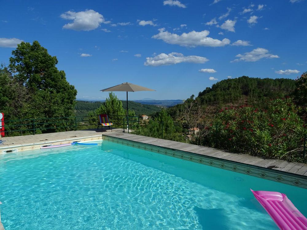 Belle maison avec piscine privative et terrasse panoramique Rhône-Alpes, Chassiers (07110)