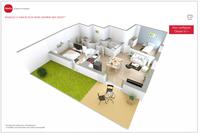 Appartement T3 NEUF 65m2 - Terasse + Jardin 38m2 - Parking - 850 Rouen (76000)