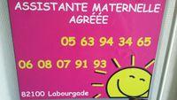 Assistante maternelle agréée à Labourgade 0 82100 Labourgade