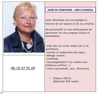 DAME DE COMPAGNIE POUR PERSONNES MOBILES - AIDE A DOMICILE- 0