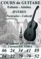 Cours de guitare sur Hyères et la Crau
