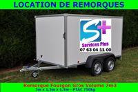 Location remorque fourgon PTAC 750 Kg