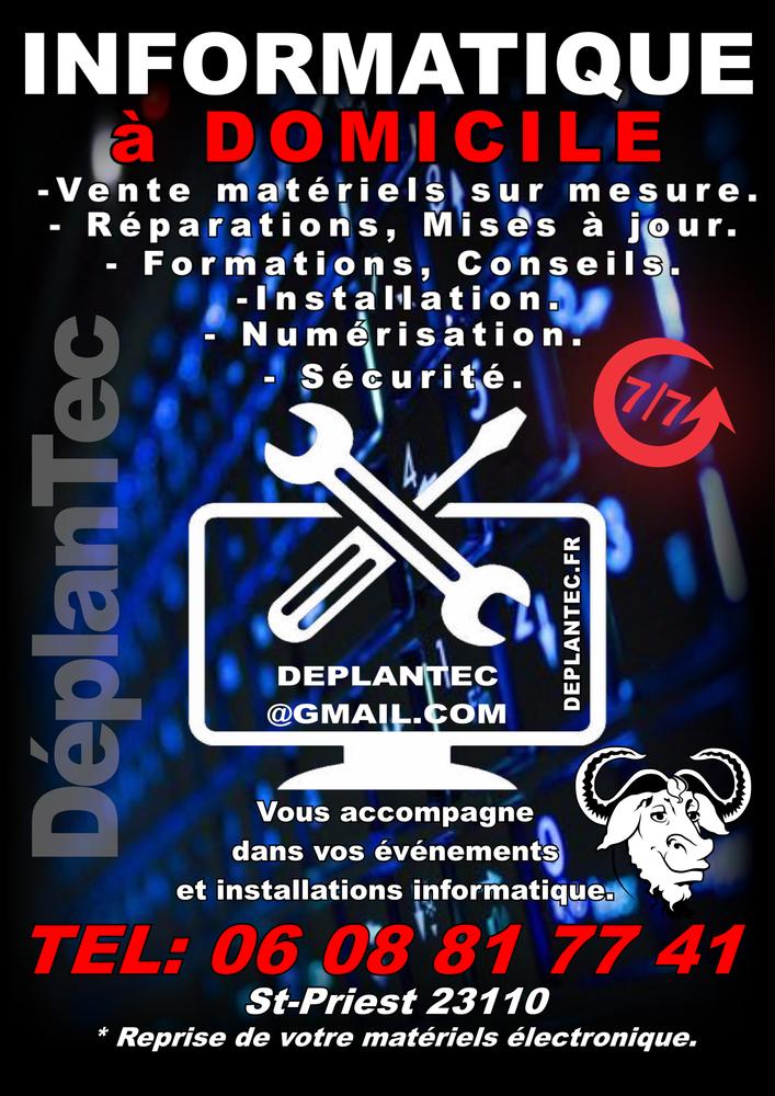 Dépannage, Conseils, Formations informatique a DOMICILE .