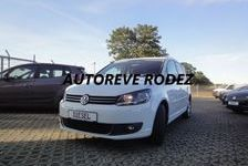 Volkswagen Touran Cup blanche 5 places 1.6 TDI fam 2014 occasion Rodez 12000