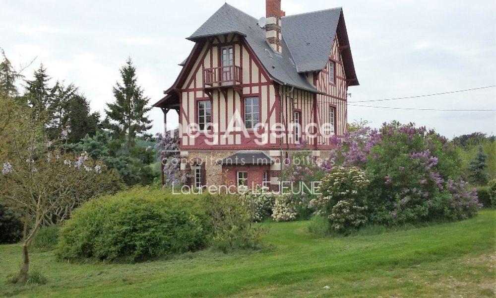 Vente Maison En Normandie proche Orbec rare à la vente énorme potentiel pour cette PROPRIETE anglo-normande dominant la vallée de l'Orbiquet Orbec