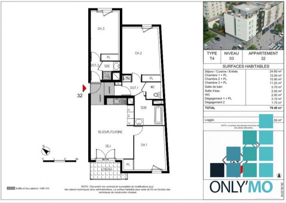 Vente Appartement Magnifique T4 78 m2 +balcon+ garage et cave Lyon 8